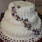 bolo de casamento com chantilly