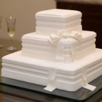 bolo de casamento quadrado