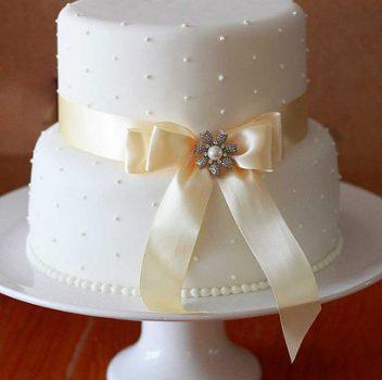 bolo de casamento simples